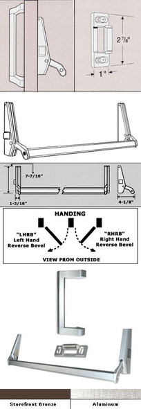 International Cross Bar Rim Panic Exit Device With Pull Handle 36""