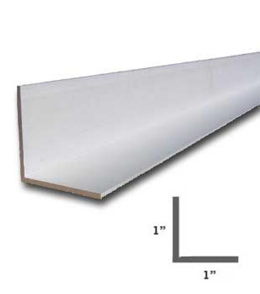 "1"" x 1"" x 1/16"" Aluminum Angle Anodized Satin Silver Finish 47-7/8"""