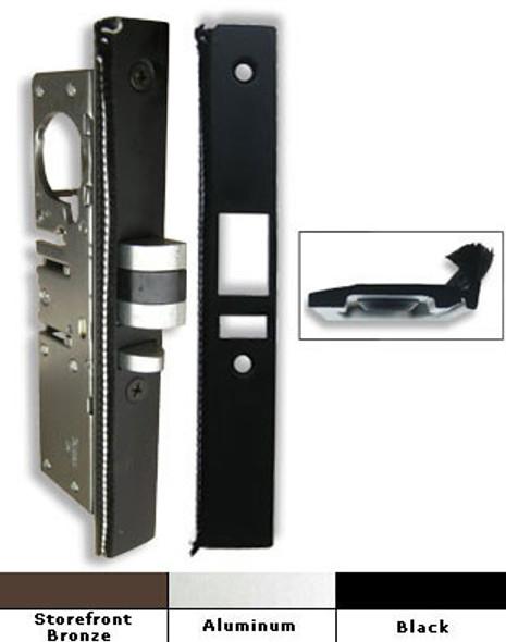 International Radius Weatherstripped Deadlatch Lock Face Plate