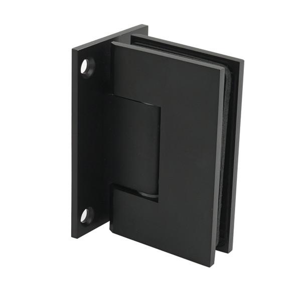Matte Black American Classic Wall Mount Full Back Plate Shower Door Hinge