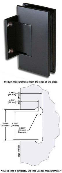 Matte Black American Classic Wall Mount Short Back Plate Shower Door Hinge