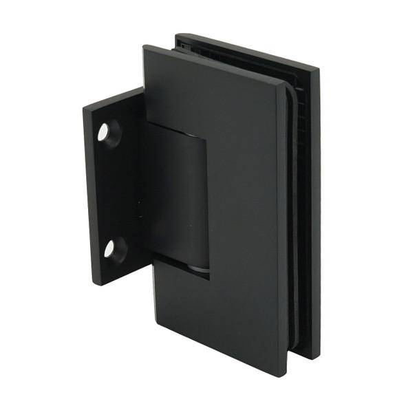 Matte Black American Classic Wall Mount Short Back Plate Shower Door Hinge