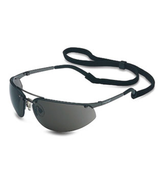 North Fuse Metal Safety Glasses with Gunmetal Frame and Gray Lens