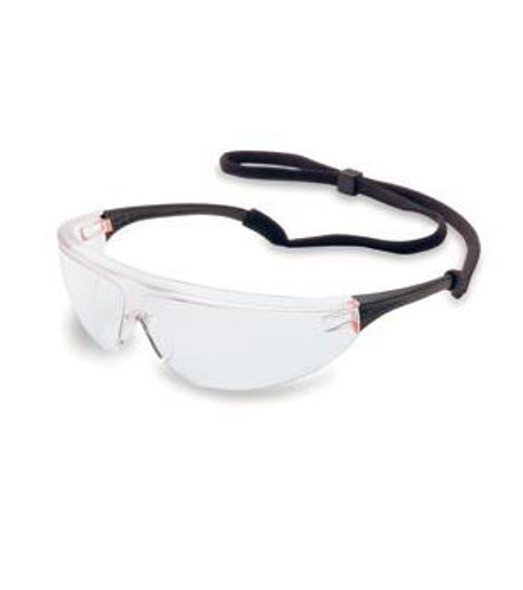 North Millennia Sport Safety Glasses with Black Frame and Clear Lens