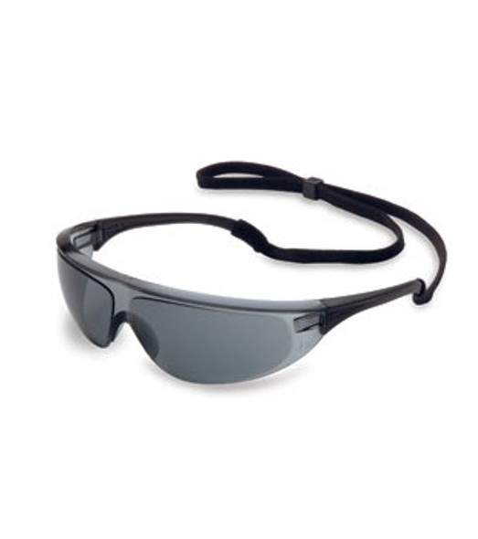 North Millennia Sport Safety Glasses with Black Frame and Gray Lens