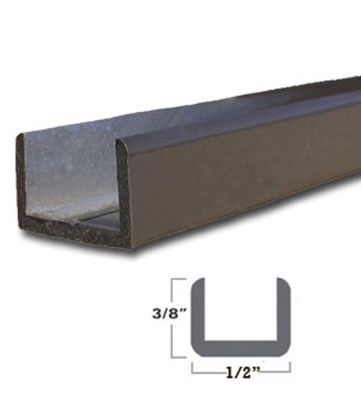 "Oil Rub Bronze Aluminum Shallow U-Channel for 3/8"" Glass 47-7/8"" Long"