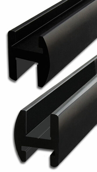"Oil Rubbed Bronze Aluminum 95"" Frameless Shower Door Header"