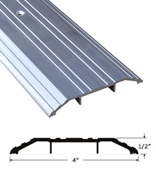"""Pemko 170A36 4"""" x 1/2"""" Mill Finish Aluminum Saddle Threshold 36"""" Long"""