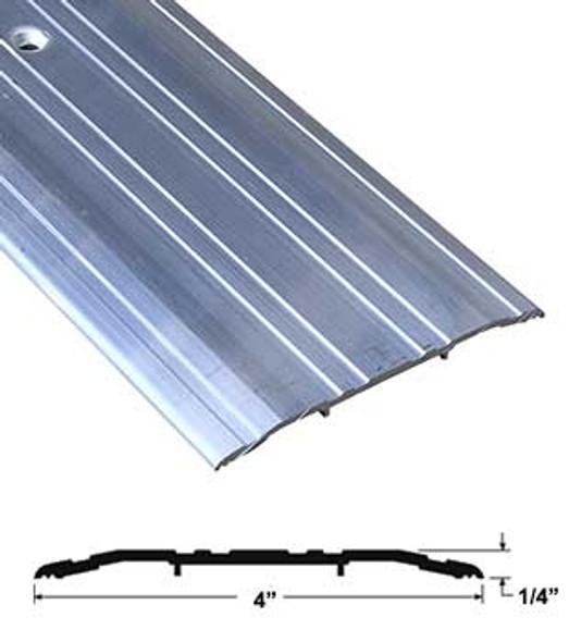"""Pemko 270A72 4"""" x 1/4"""" Mill Finish Aluminum Saddle Threshold 72"""" Long"""