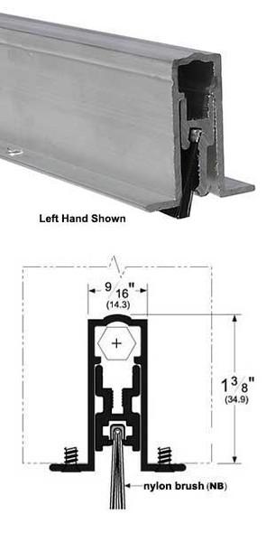 "Pemko 411ANBL36 Automatic Door Bottom 9/16"" Mill Aluminum/Brush 36"""
