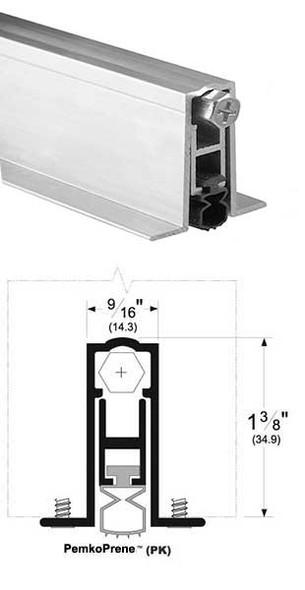 """Pemko 411APKL36 Automatic Door Bottom 9/16"""" Mill Aluminum/Neoprene 36"""""""