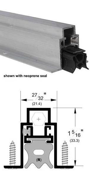 "Pemko 434ARL36 Auto Door Bottom 27/32"" Mill Aluminum/EPDM 36"""