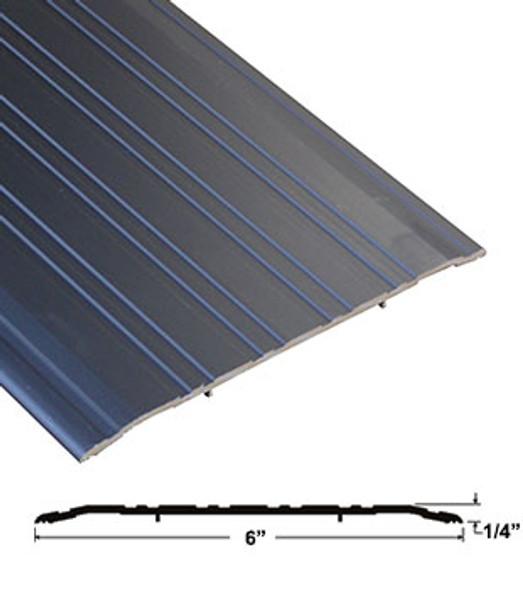 """Pemko 272D72 6"""" x 1/4"""" Bronze Anodized Aluminum Saddle Threshold 72"""" Long"""