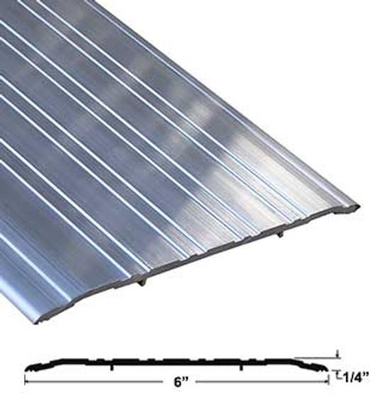 """Pemko 272A72 6"""" x 1/4"""" Mill Finish Aluminum Saddle Threshold 72"""" Long"""