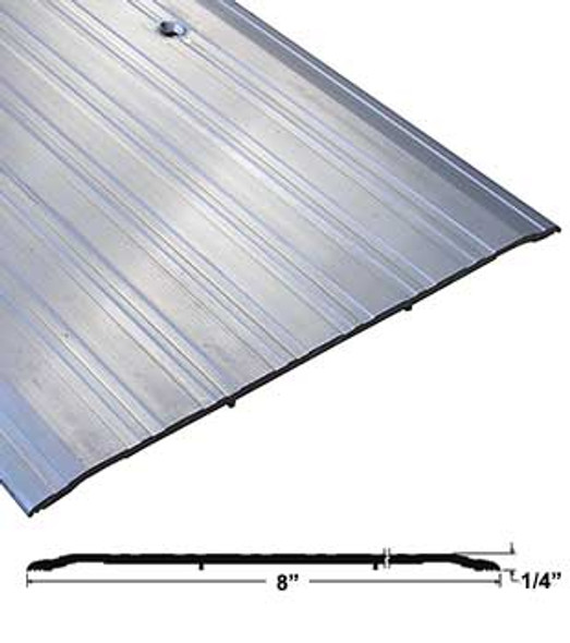 "Pemko 2748A36 8"" x 1/4"" Mill Finish Aluminum Saddle Threshold 36"" Long"