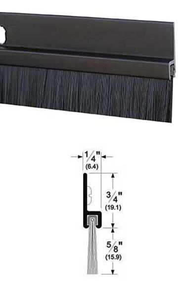 """Pemko 18061DNB48 Dark Bronze Anodized Aluminum with 5/8"""" Brush Door Sweep 48"""""""