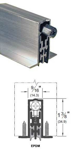 "Pemko PDB411AE36 Acoustic Automatic Door Bottom Aluminum/EPDM 36"""