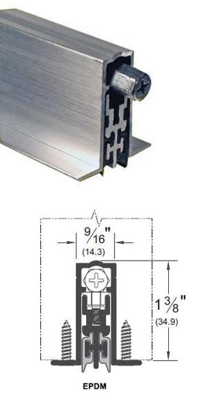 "Pemko PDB411AE48 Acoustic Automatic Door Bottom Aluminum EPDM 48"""