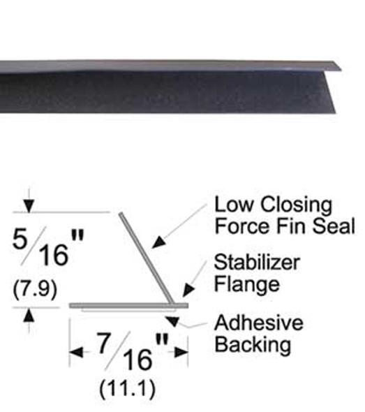 "Pemko S44D21 Adhesive Fin Smoke Seal Gasket 5/16"" x 7/16"" Brown 21'"