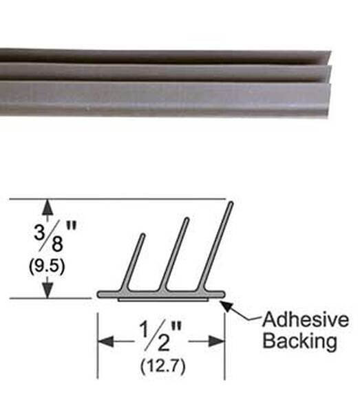 Pemko S773D21 Adhesive Triple Fin Seal Gasket