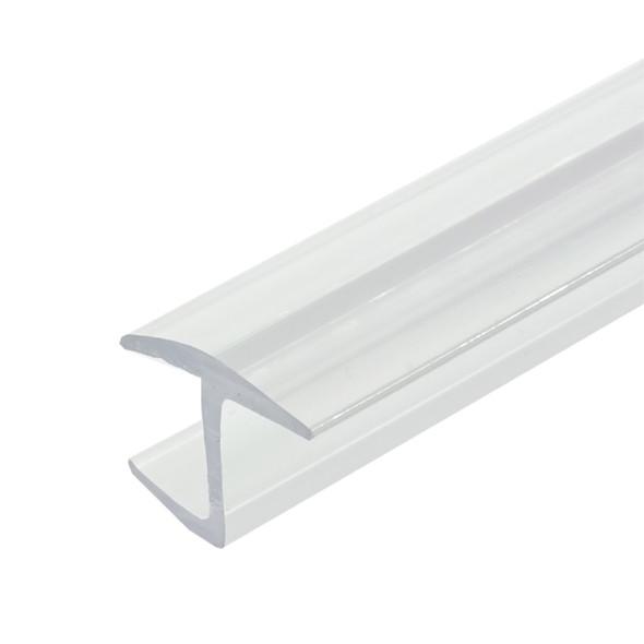 "Polycarbonate ""H"" Shower Door or Strike Jamb For 1/2"" Glass- 95"" Long"