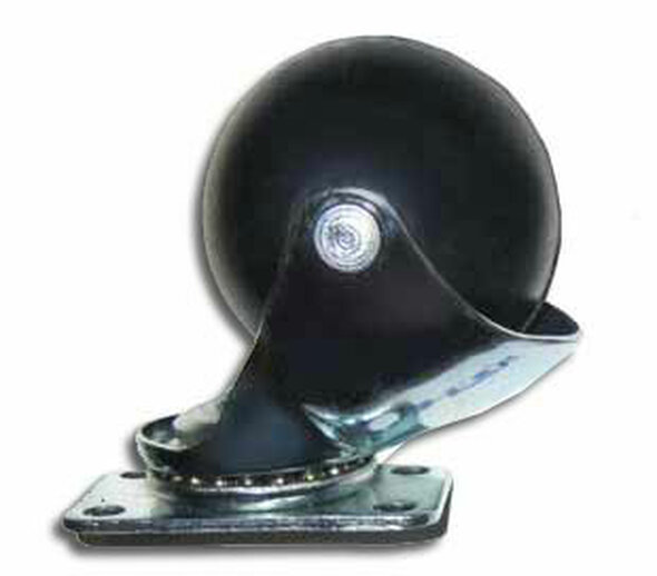 "PST 2"" Soft Rubber Ball Caster With Plate Mount"