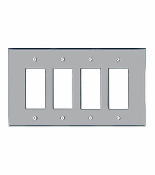 Quad Decora Acrylic Mirror Switch Cover Plate