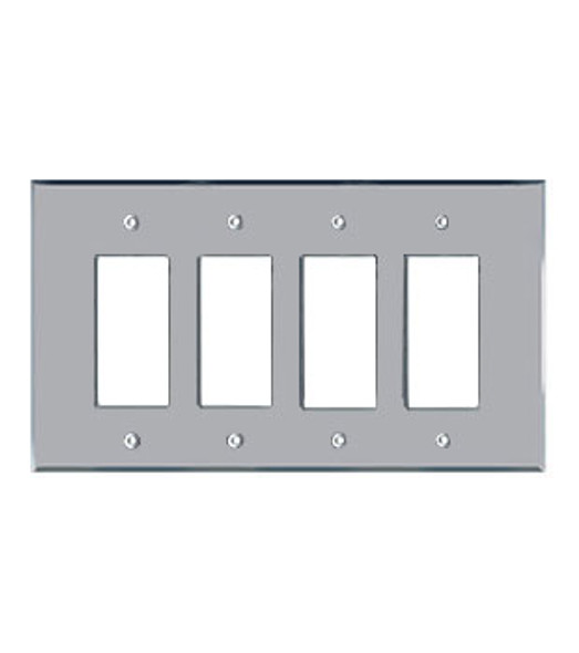 Quad Decora Acrylic Mirror Switch Cover Plate