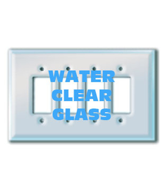 Quad Decora Paintable Clear Glass Switch Cover Plate
