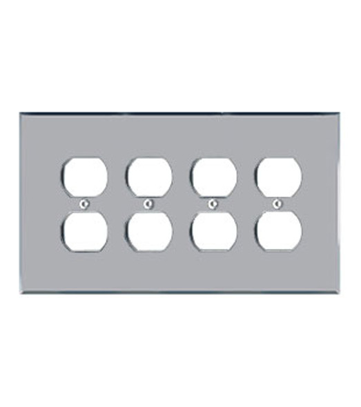 Quad Duplex Acrylic Mirror Switch Cover Plate