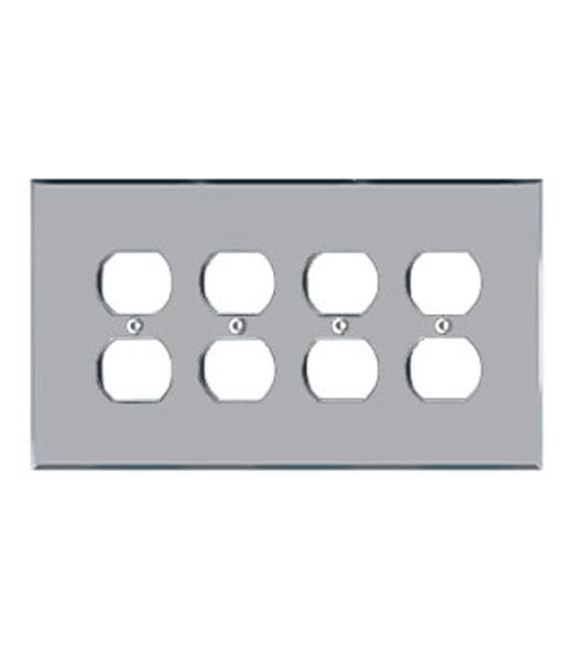 Quad Duplex Acrylic Mirror Switch Cover Plate