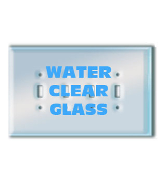 Quad Toggle Paintable Clear Glass Switch Cover Plate