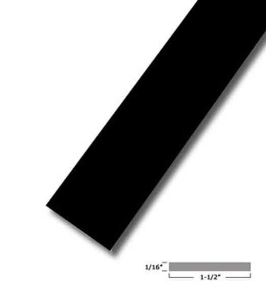 "1-1/2"" X .075"" Bronze Vinyl Flat Bar Window Trim with Tape -12 ft Long"