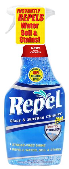 Repel Glass and Surface Cleaner With Repellent 25oz.