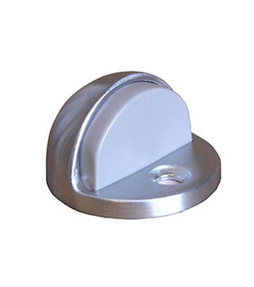 "Rockwood Door Stop Dome Bumper 1/4"" Lip Satin Finish"