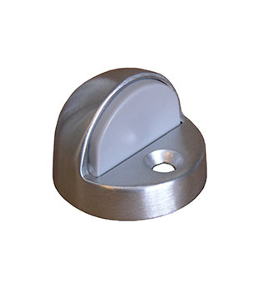 "Rockwood Door Stop Dome Bumper 7/16"" Lip Satin Finish"