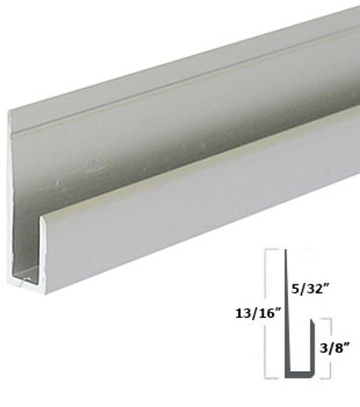 """Satin Anodized Aluminum 1/8"""" J Channel 47-7/8"""""""