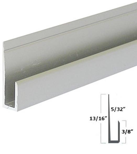 """Satin Anodized Aluminum 1/8"""" J Channel 95"""""""