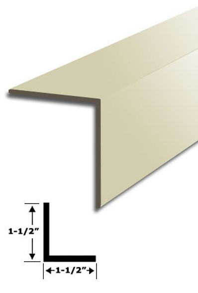 "1-1/2"" x 1-1/2"" Almond Vinyl ""L"" Trim With Tape 95"" Long"