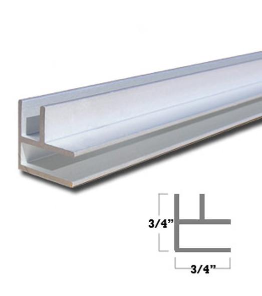 "Satin Anodized Aluminum Mirror Corner Extrusion 95"" Long"