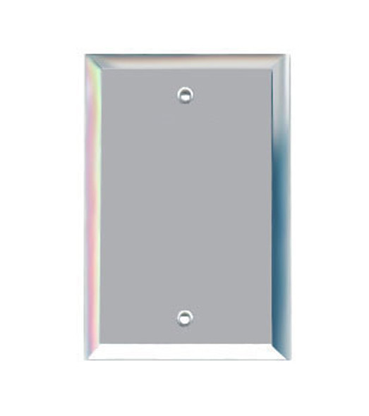 Single Blank Glass Mirror Outlet Cover Plate