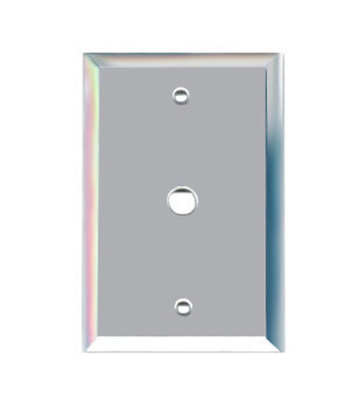 "Single Cable 3/8"" Glass Mirror Outlet Cover Plate"