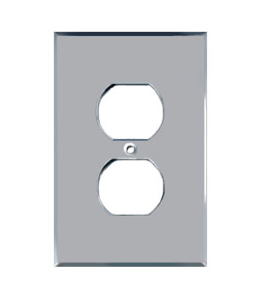 Single Duplex  Acrylic Mirror Outlet Cover Plate