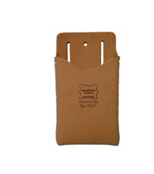 Single Pocket Box Shaped Leather Tool Pouch
