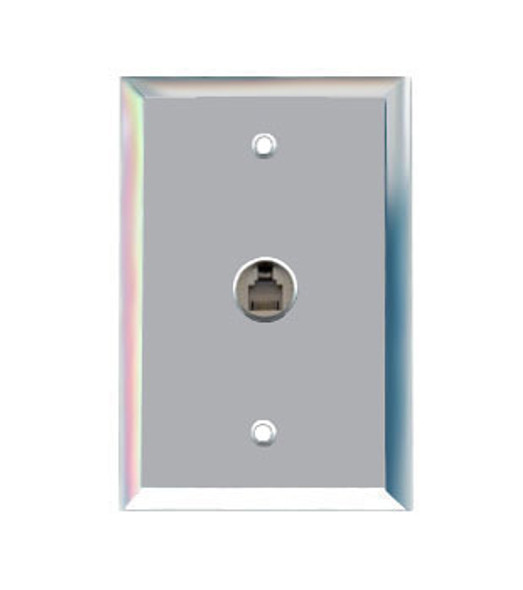 Single Telephone Jack Glass Mirror Outlet Cover Plate 2
