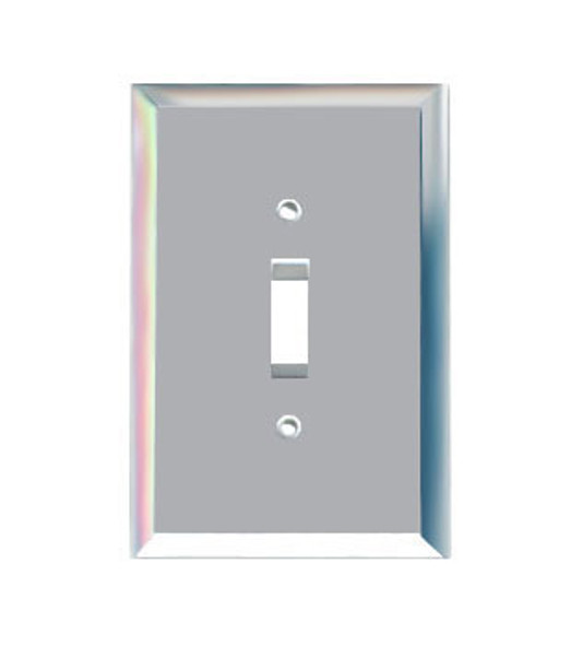 Single Toggle Glass Mirror Switch Cover Plate