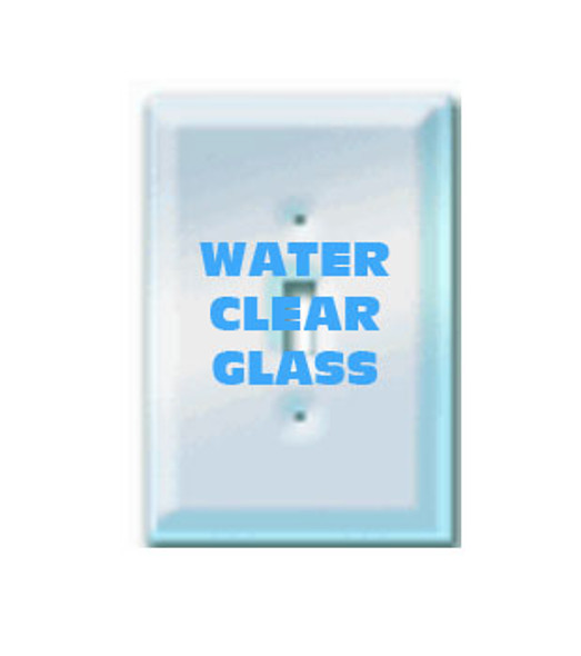 Single Toggle Paintable Clear Glass Switch Cover Plate