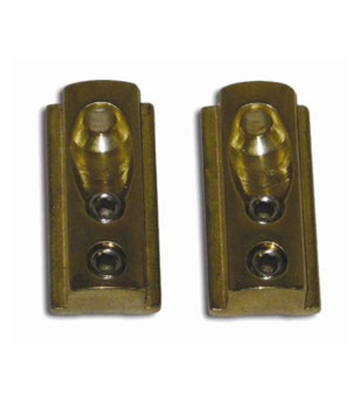 Solid Brass Wall Mount Shower Door Header Anchor Set