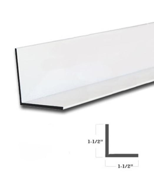 """1-1/2"""" x 1-1/2"""" x 1/16"""" Aluminum Angle White Finish 47-7/8"""""""