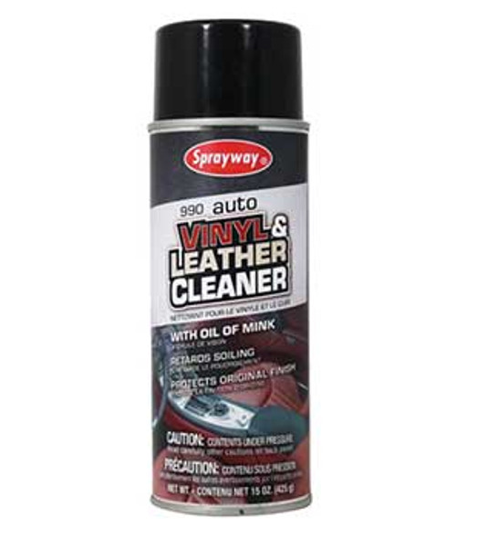 Sprayway SW990 Vinyl And Leather Cleaner 15 oz Can